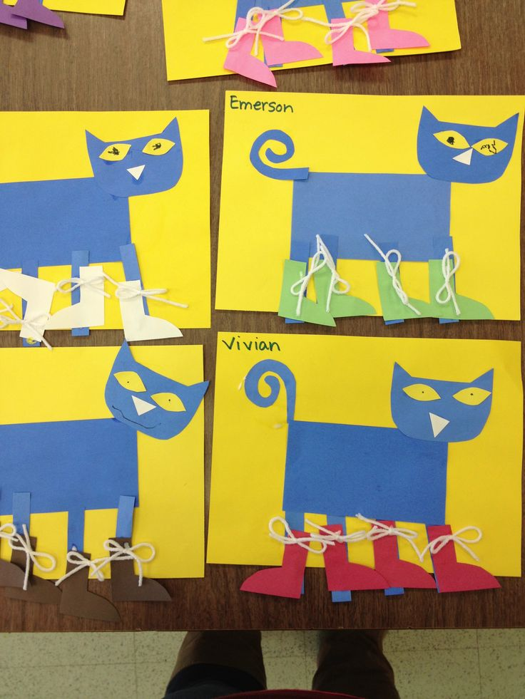 Pete the cat preschool project