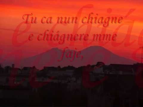 Sal da Vinci - Tu ca nun chiagne (Testo) - YouTube