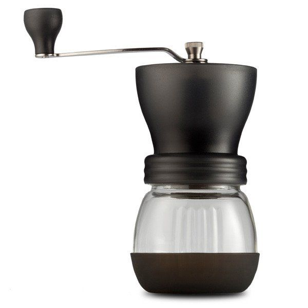 The Hario Skerton Coffee Grinder is an incredibly popular manual coffee grinder. Buy one to get a highly consistent grind on a limited budget!