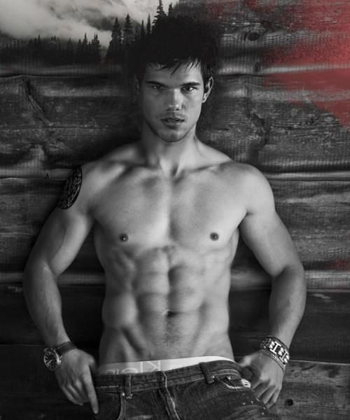Taylor Lautner...should be illegal to look like that and be that young, but hell yes I will take one :)
