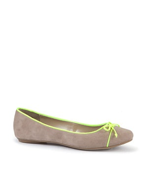 Light Brown (Brown) Brown Ballet Pumps with Neon Trim | 249306421 | New Look