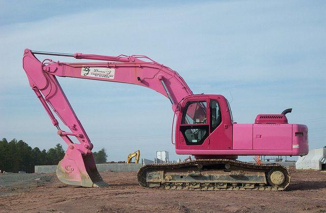 Excavator #heavyequipment #pink, 1-888-608-6188 National1tracks.com