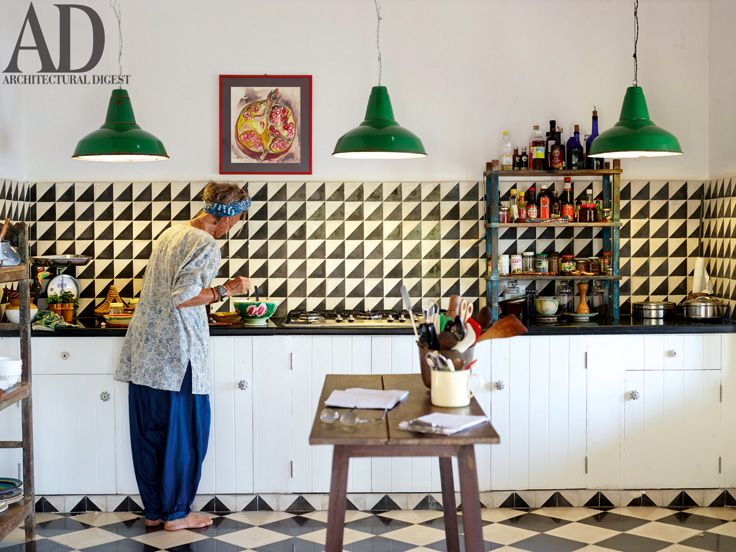 Designer And Hotelier Isla Van Damme In The Kitchen Of Her Tamil Nadu