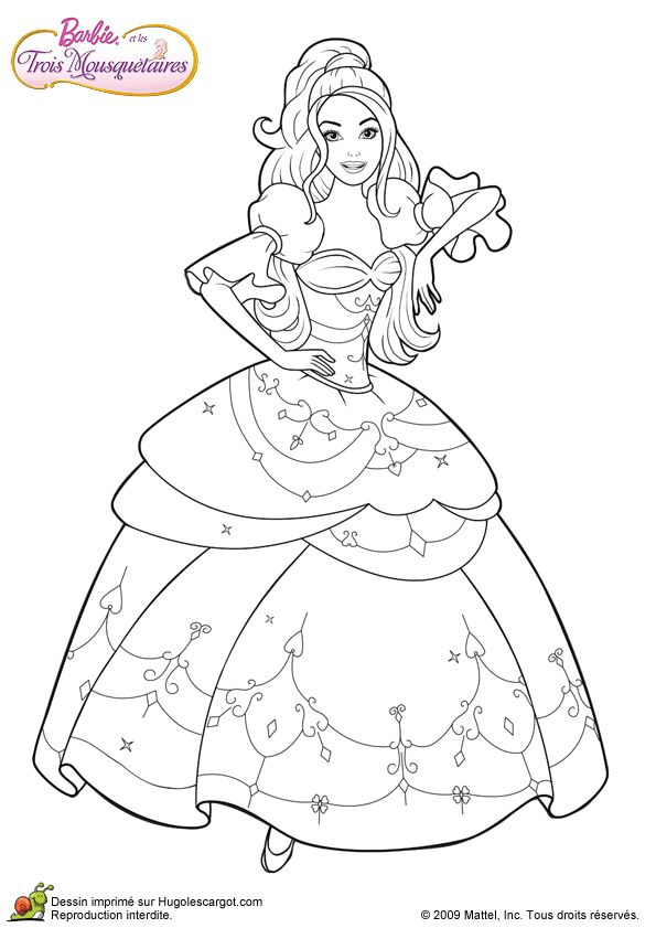 barbie and three musketeers barbie coloring page196