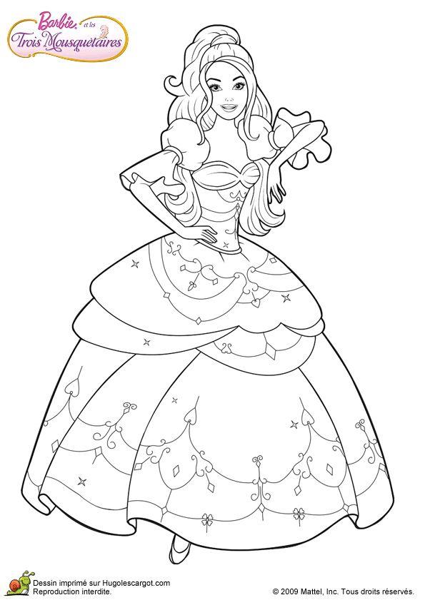 La barbie mousquetaire dans sa robe de princesse - Robe barbie adulte ...