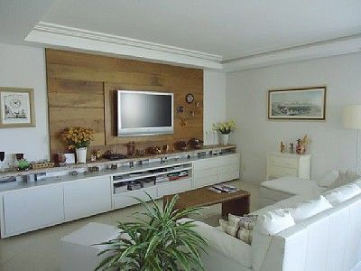 Crown molding and wood panel accent