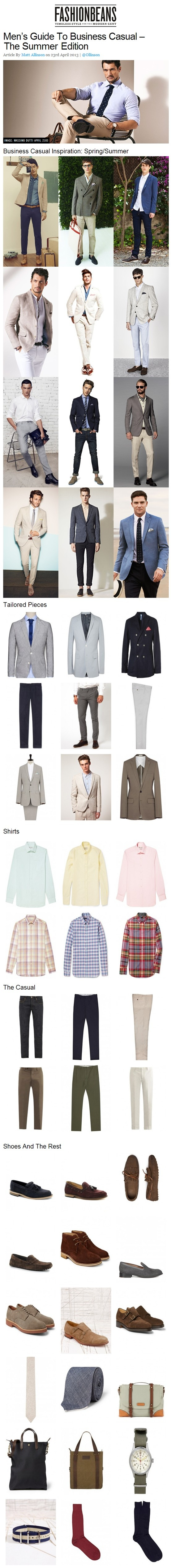 Men's Guide To Business Casual - The Summer Edition | FashionBeans