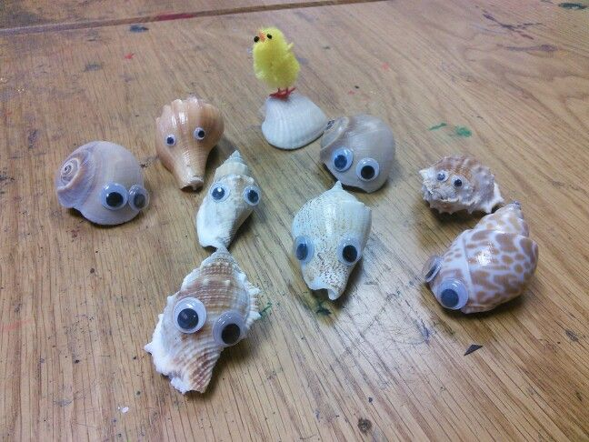This is a great simple craft. All you need are sea shells, googly eyes and some strong glue