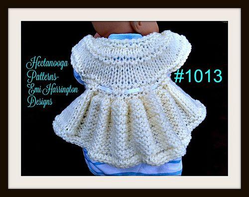 Ravelry: #1013 - Cherub Baby Sweater pattern by Emi Harrington