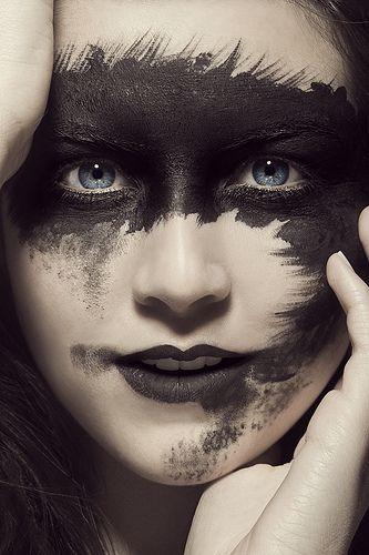 Make up mask black preto maquiagem artístico