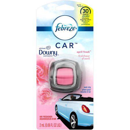 Febreze CAR Vent Clip Downy Scent Air Freshener, .06 fl oz