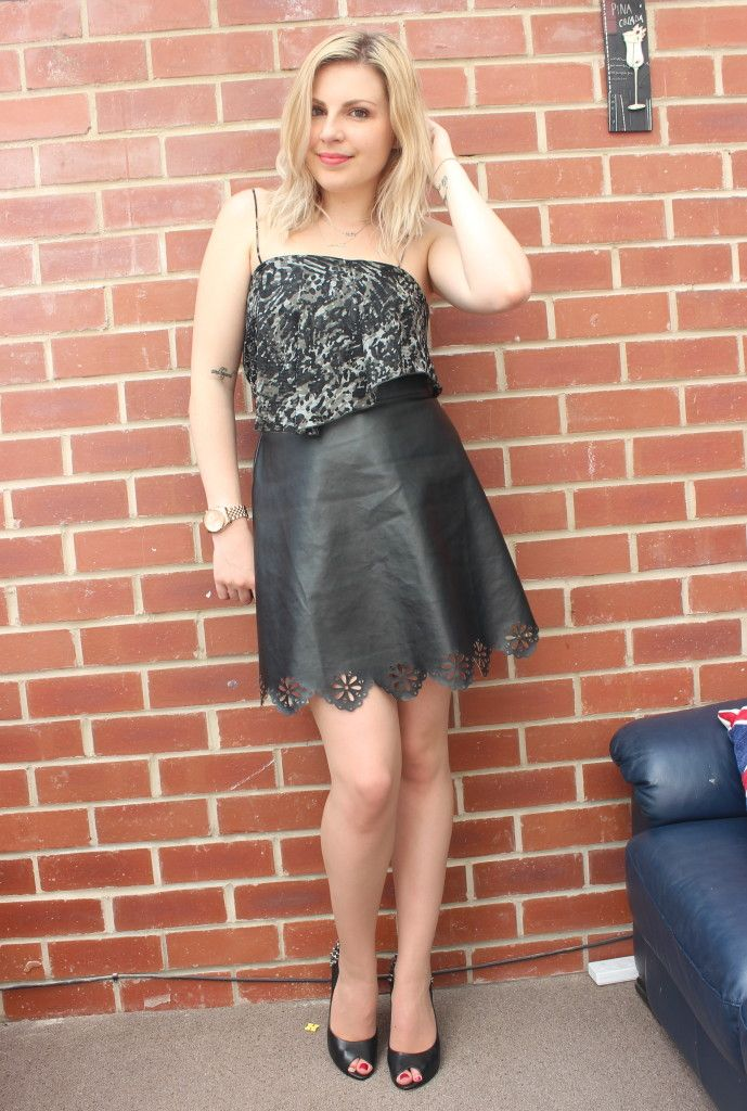 Style At Any Size Leather Skirt Challenge