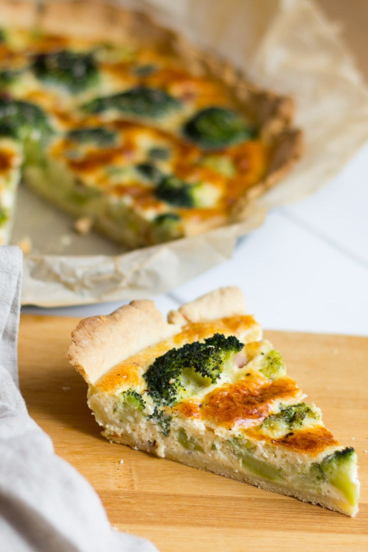 Brokkoli Quiche mit Schinken und Parmesan