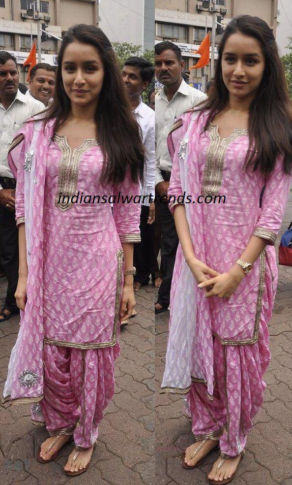 Latest Salwar and Designer Dresses: Shradda Kapoor in patiala salwar kameez