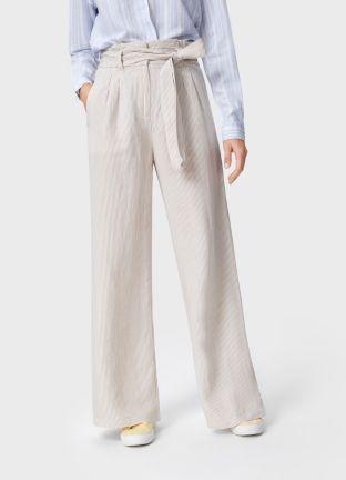 473f4c9c3aec Широкие брюки изо льна в 2019 г. | O'stin | Широкие брюки, Брюки и ...