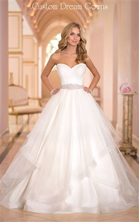 Found it!!! modern princess Tulle wedding dress ballgown from the Stella York collection