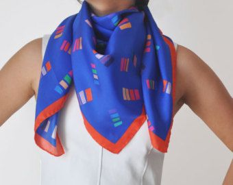 Casa silk scarf by Joyce and Nim. Made in Italy.  From Etsy
