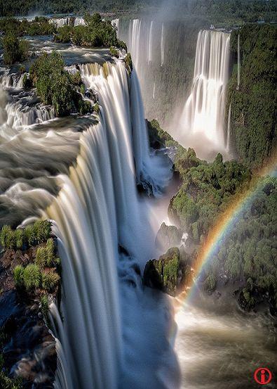 DecoArt24.pl - Iguazu Raimbow by WaveFaber on 500px.com Iguazu side fall beautiful rainbow in water  #Landscape #Nature #Photography #Scenery #iguazu #landscape #nature #waterfall