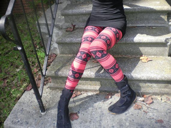 Hey, I found this really awesome Etsy listing at http://www.etsy.com/listing/114274562/sale-nordicaztec-leggings-red-with-free