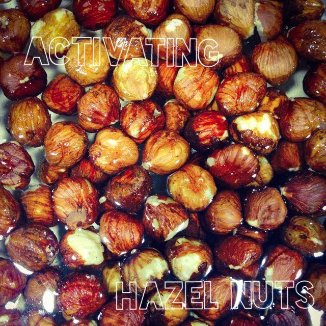 Soaking our hazel nuts! Making L A V E N D E R milk tomorrow! I can't wait to taste it, sounds so amazing already!