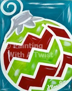 17 best images about christmas canvas on pinterest for Painting with a twist san diego