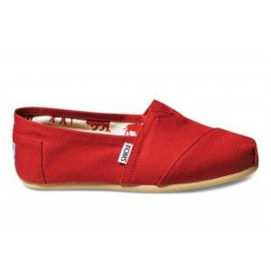 Toms Red Canvas Women's Classics in Toms Shoes Outlet Store