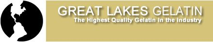 Great Lakes Gelatin | 6 1-lb or 12 1-lb quantities.  | green liquid // red gels