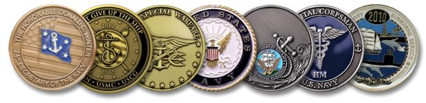 The official use of the challenge coin started from World War 1. The need of challenge coins arose due to an aircraft event, and then the issue of identity arose.