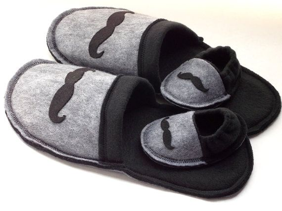 Infant Crib Shoes and matching New Daddy's Slippers