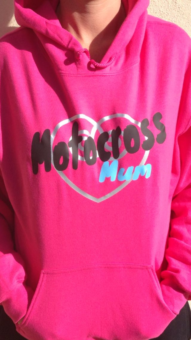 Motocross mum hoodies available in hot pink, grey or black and sizes small to 5XL. Likes us on Facebook: motocross mum or Instagram: motocrossmumaustralia grab yours today