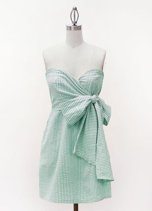 preppy: Summer Dresses, Fashion, Style, Clothes, Seersucker Dress, Dream Closet, Bridesmaid Dresses
