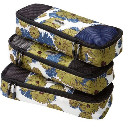 Amazon.com: eBags Slim Packing Cubes - 3pc Set (Posh Paisley): Clothing