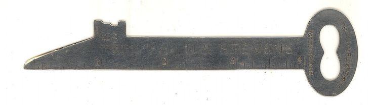 Wild Stevens printer type vintage advertising ruler Boston