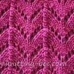 Free Horseshoe Lace Knitting Stitch pattern
