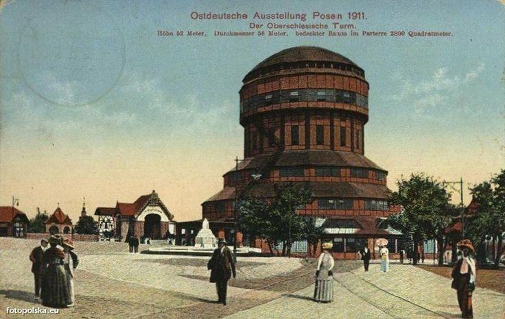 Poznan Poland, Water Tower czyli Wieża Górnośląska w 1911r. Obecnie na jej miesjcu znajduje się tzw. Iglica - symbol MTP