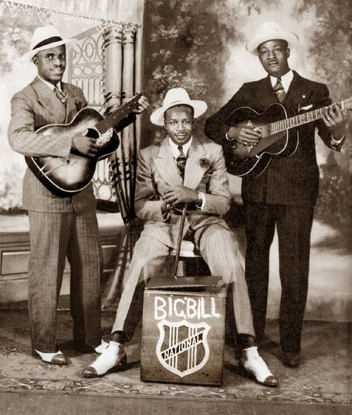 Big Bill Broonzy, Bill Gaither,  Memphis Slim...Priceless picture of three icons of American blues music....