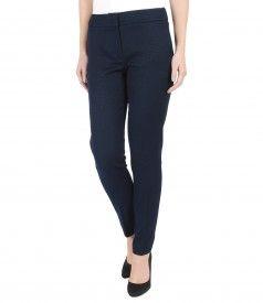 Pantaloni pana din bumbac elastic texturat