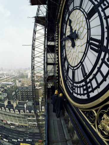 Close-Up of the Clock Face of Big Ben, Houses of Parliament, Westminster, London, England  by Adam Woolfitt at