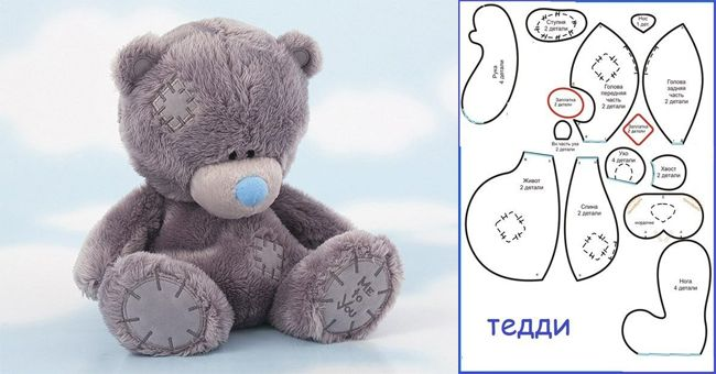 Como hacer un oso de peluche con moldes