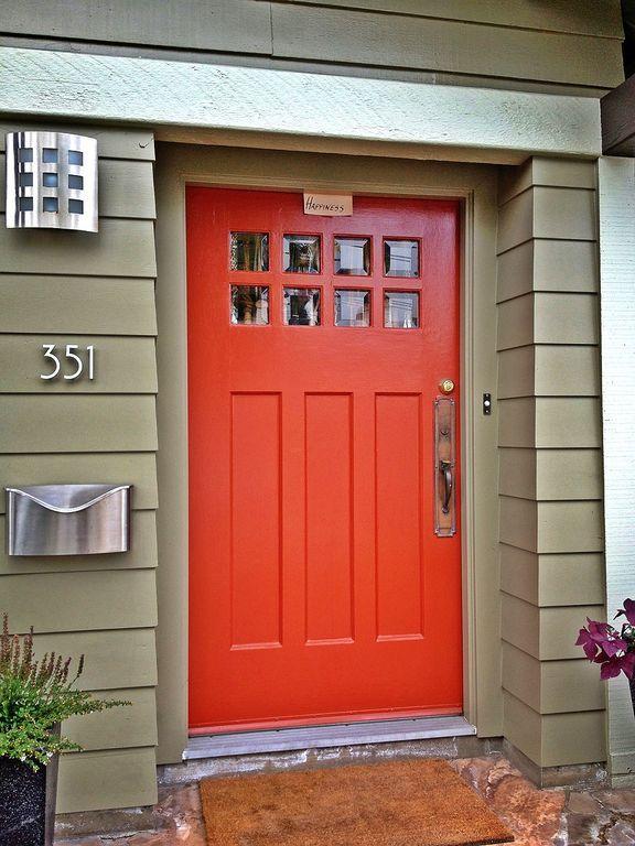 Modern Front Door with Glass panel door, Builders Door Outlet 6-Lite over…