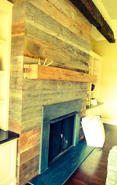 Barn Board Fireplace By Reclaimed Designworks Reclaimed