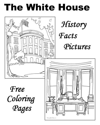 American Symbols The White House coloring pages facts