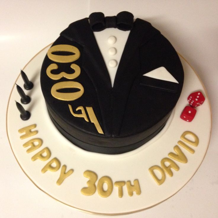 James Bond themed chocolate mud cake with vanilla bean buttercream 30th birthday casino royal