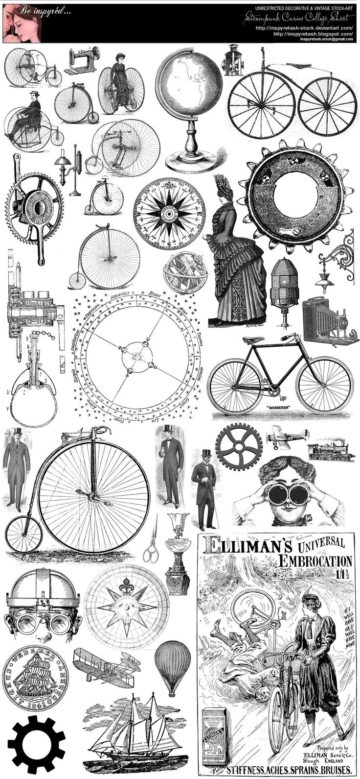 Steampunk Curios College Sheet by Beinspyred.deviantart.com on @deviantART