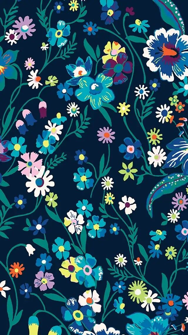 Vera Bradley Summer 2019 Moonlight Garden Vera Bradley Wallpaper Pretty Phone Wallpaper Flower Phone Wallpaper