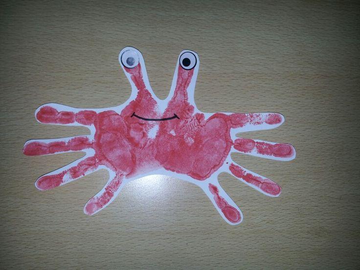 Krab door handafdruk