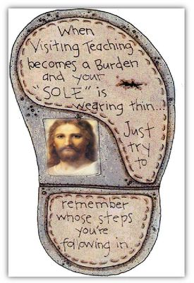 Follow Jesus footsteps~ This could be changed a little and used for a lot of things!
