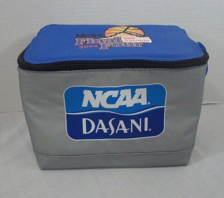 NCAA 2004 Final Four San Antonio Dasani Igloo Collapsible 6 Pack Cooler Lunchbox #Igloo