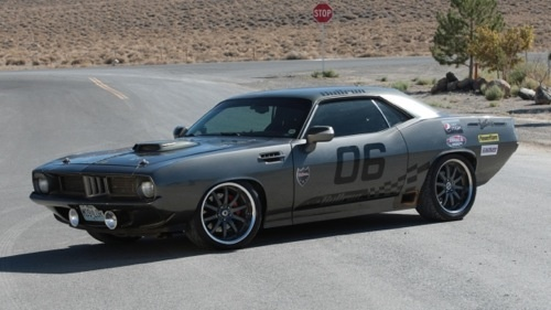 The Charcoal Grey color this 1970 Hemi 'Cuda featured on the Bullrun Race is the color I want my ...