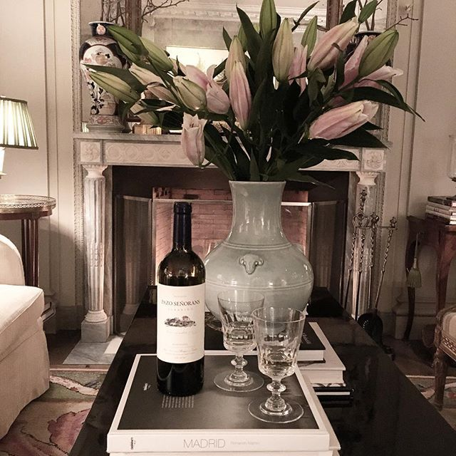 """""""Spanish vibe...friends, wine and books in #NYC... ,"""" from James Costos's Instagram (10 February 2016)."""